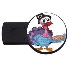 Turkey Animal Pie Tongue Feathers Usb Flash Drive Round (2 Gb) by Nexatart