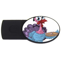 Turkey Animal Pie Tongue Feathers Usb Flash Drive Oval (4 Gb) by Nexatart