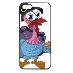 Turkey Animal Pie Tongue Feathers Apple Iphone 5 Seamless Case (black) by Nexatart