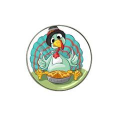 Pie Turkey Eating Fork Knife Hat Hat Clip Ball Marker (10 Pack) by Nexatart