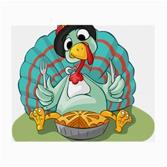Pie Turkey Eating Fork Knife Hat Small Glasses Cloth by Nexatart