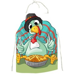 Pie Turkey Eating Fork Knife Hat Full Print Aprons by Nexatart