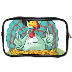 Pie Turkey Eating Fork Knife Hat Toiletries Bags by Nexatart