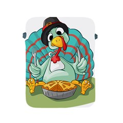 Pie Turkey Eating Fork Knife Hat Apple Ipad 2/3/4 Protective Soft Cases by Nexatart