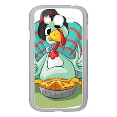 Pie Turkey Eating Fork Knife Hat Samsung Galaxy Grand Duos I9082 Case (white) by Nexatart