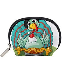Pie Turkey Eating Fork Knife Hat Accessory Pouches (small)  by Nexatart