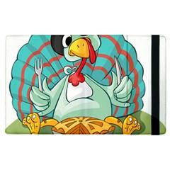 Pie Turkey Eating Fork Knife Hat Apple Ipad Pro 9 7   Flip Case by Nexatart