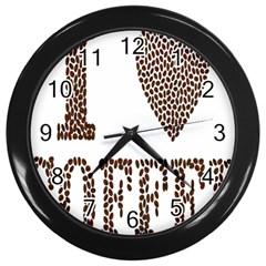 Love Heart Romance Passion Wall Clocks (black) by Nexatart