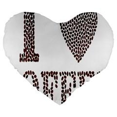 Love Heart Romance Passion Large 19  Premium Heart Shape Cushions by Nexatart