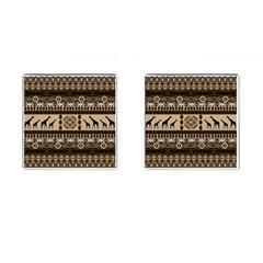 Giraffe African Vector Pattern Cufflinks (square) by BangZart