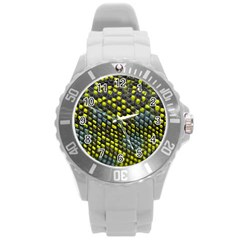 Lizard Animal Skin Round Plastic Sport Watch (l)