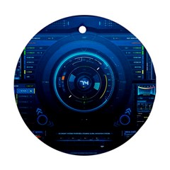 Technology Dashboard Round Ornament (two Sides) by BangZart