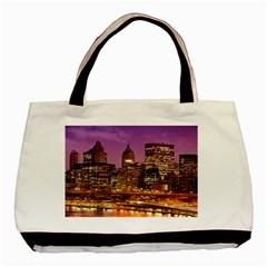 City Night Basic Tote Bag by BangZart