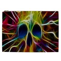 Skulls Multicolor Fractalius Colors Colorful Cosmetic Bag (xxl)  by BangZart