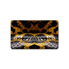 Textures Snake Skin Patterns Magnet (name Card) by BangZart