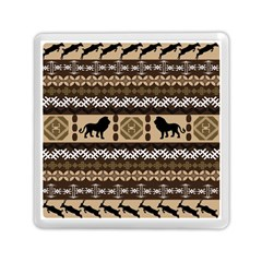 Lion African Vector Pattern Memory Card Reader (square)  by BangZart