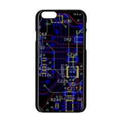 Technology Circuit Board Layout Apple Iphone 6/6s Black Enamel Case