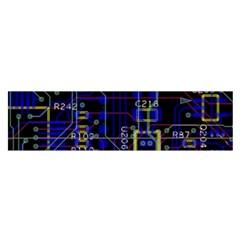Technology Circuit Board Layout Satin Scarf (oblong) by BangZart