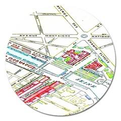 Paris Map Magnet 5  (round) by BangZart