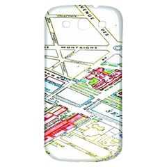 Paris Map Samsung Galaxy S3 S Iii Classic Hardshell Back Case by BangZart