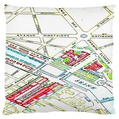 Paris Map Standard Flano Cushion Case (two Sides) by BangZart