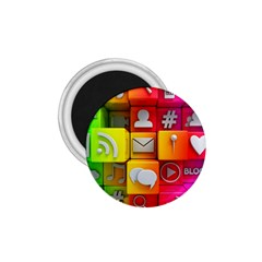 Colorful 3d Social Media 1 75  Magnets by BangZart