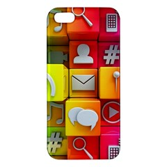 Colorful 3d Social Media Apple Iphone 5 Premium Hardshell Case by BangZart