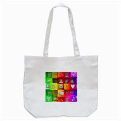 Colorful 3d Social Media Tote Bag (white) by BangZart