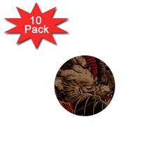 Chinese Dragon 1  Mini Buttons (10 Pack)  by BangZart
