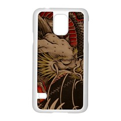 Chinese Dragon Samsung Galaxy S5 Case (white) by BangZart