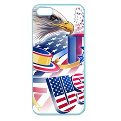 United States Of America Usa  Images Independence Day Apple Seamless Iphone 5 Case (color) by BangZart