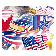 United States Of America Usa  Images Independence Day Double Sided Flano Blanket (small)