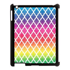 Colorful Rainbow Moroccan Pattern Apple Ipad 3/4 Case (black) by BangZart