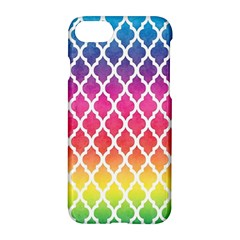 Colorful Rainbow Moroccan Pattern Apple Iphone 7 Hardshell Case by BangZart