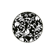 Vector Classicaltr Aditional Black And White Floral Patterns Hat Clip Ball Marker (4 Pack) by BangZart