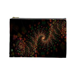 Multicolor Fractals Digital Art Design Cosmetic Bag (large)  by BangZart