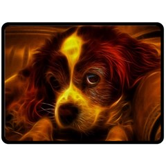 Cute 3d Dog Double Sided Fleece Blanket (large)  by BangZart
