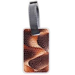 Snake Python Skin Pattern Luggage Tags (one Side)  by BangZart