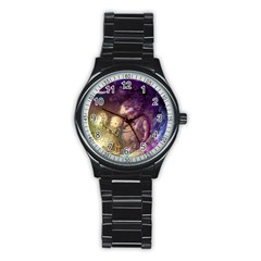 Cartoons Video Games Multicolor Stainless Steel Round Watch by BangZart