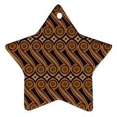 Batik The Traditional Fabric Ornament (star) by BangZart