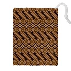 Batik The Traditional Fabric Drawstring Pouches (xxl)