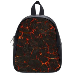 Volcanic Textures School Bags (small)  by BangZart