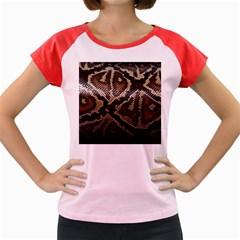 Snake Skin Olay Women s Cap Sleeve T Shirt by BangZart