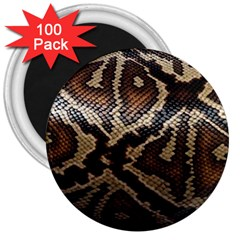 Snake Skin Olay 3  Magnets (100 Pack) by BangZart