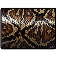 Snake Skin Olay Double Sided Fleece Blanket (large)  by BangZart