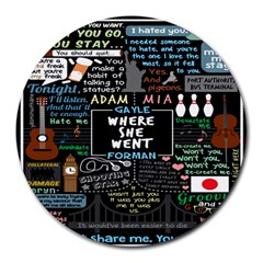 Book Quote Collage Round Mousepads by BangZart