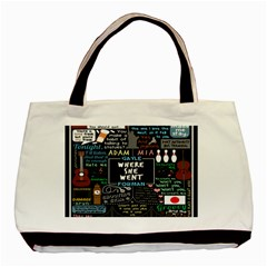 Book Quote Collage Basic Tote Bag by BangZart