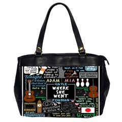 Book Quote Collage Office Handbags (2 Sides)  by BangZart