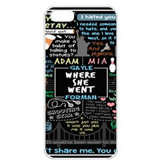 Book Quote Collage Apple Iphone 5 Seamless Case (white) by BangZart