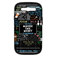 Book Quote Collage Samsung Galaxy S Iii Hardshell Case (pc+silicone) by BangZart